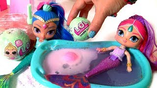 LOL Surprise Fizz Factory Learn to Make Charm Fizz Balls Bath Bombs with L.O.L Factory Surprise Toys
