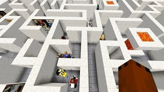 So I set up a maze for 300 minecraft noobs with no exit...