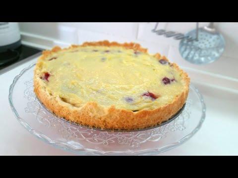 Вишневый пирог под кремом патисьер рецепт