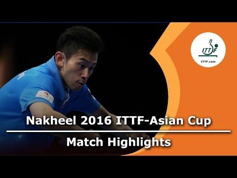 2016 Asian Cup Highlights: Wong Chun Ting vs Gao Ning (3rd Place Match)