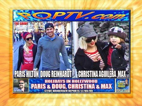 CHRISTINA AGUILERA & MAX, PARIS HILTON & DOUG X-MAS SHOPPING