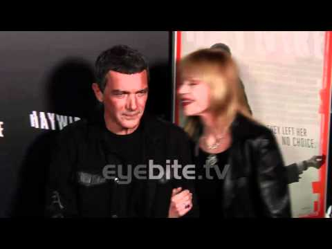 Antonio Banderas and Melanie Griffith at HAYWIRE premiere
