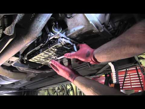 Mercedes transmission fluid and filter change - YouTube