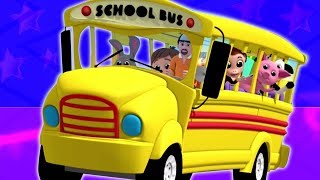 Bánh xe trên xe buýt | vần điệu ở việt nam | Rhymes for Toddlers | 3D Bus Songs | Wheels On the Bus