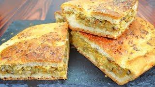 Постный заливной пирог с капустой и грибами - идеальный рецепт