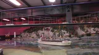 HO scale Norway and Sweden, trains, RC ship  in Miniatur Wunderland, Hamburg 17 JAN 2014, part 4/4