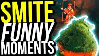 FORTNITE BUSH SKIN IS OP! - SMITE FUNNY MOMENTS