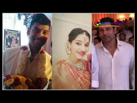 Actor Vikram's Daughter Engagement with DMK Leader M. Karunanidhi's Grandson