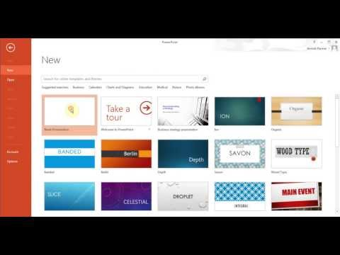 Microsoft PowerPoint 2013 pt 1 (Create slides, add pictures, charts and more)