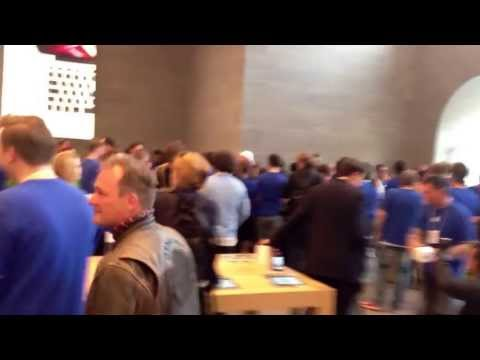 Apple Retail Store Erffnung in Berlin am Kurfrstendamm