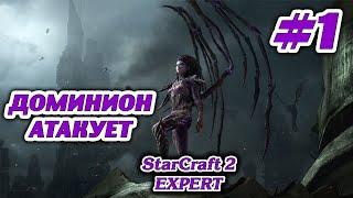 Starcraft II Zerg campaign Expert #1 Доминион атакует