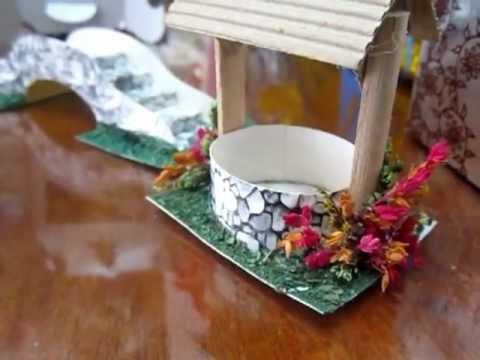 Puente y pozo para pesebre hecho en cart n youtube - Casitas para pesebre de carton ...