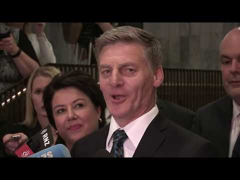 Bill English addresses media after Peters announcement
