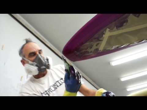 How to do a Resin Tint Glass Job on a Surfboard
