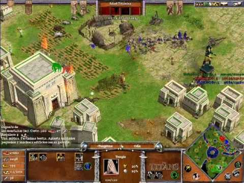 Age of Mythology The Titans ONLINE x Hamachi: Odin & Hades VS Ra (CPU Titan) - Parte 5/5