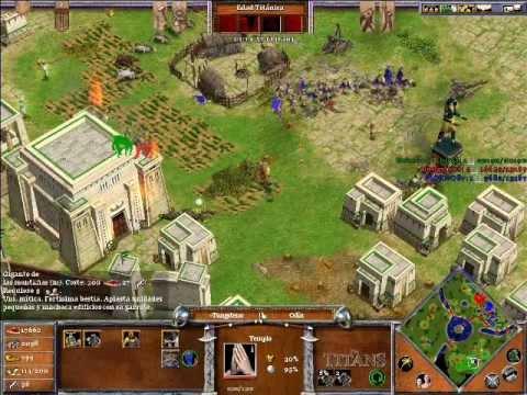 Age of Mythology The Titans ONLINE x Hamachi: Odin & Hades VS Ra (CPU Titan) - Parte 5/5