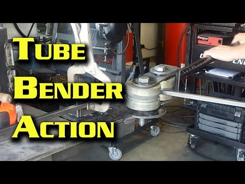 Bending Tubing Using My Homemade Bender With Harbor Freight Dies
