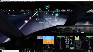 P3D V4.3 Boeing 787-9 Night Landing Into LAX
