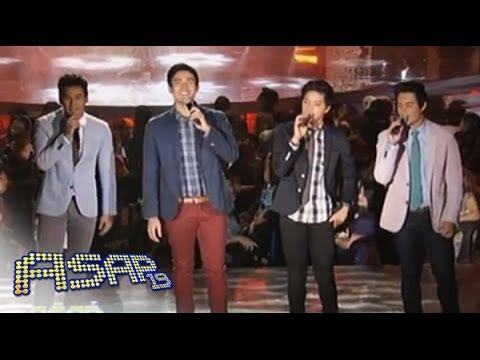 Daniel Padilla, Enchong Dee, Xian Lim & Enrique Gil sing