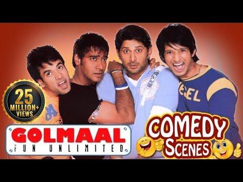 Golmaal Fun Unlimited - All Comedy Scenes - Ajay Devgn - Arshad Warsi #IndianComedy thumbnail