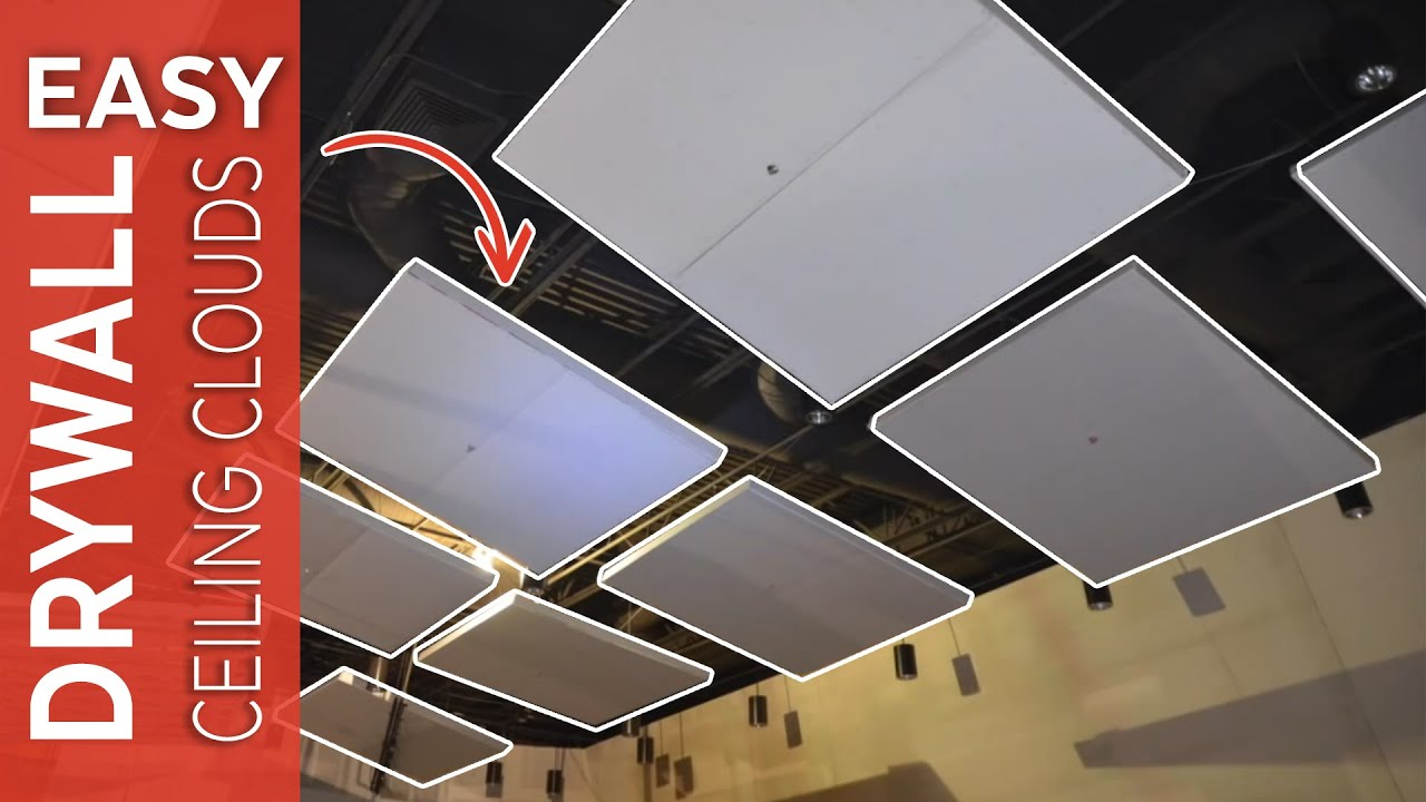 Floating Drywall Clouds With Shortspan Drywall Grid Youtube
