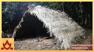 Primitive Technology: A-frame hut by : Primitive Technology