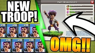 NEW TROOP Coming To Clash Of Clans! 🔥 PARTY WIZARD Has Arrived!