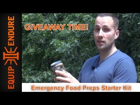 Emergency Food Preps Starter Kit Giveaway by Equip 2 Endure
