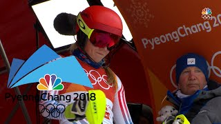 Mikaela Shiffrin wins silver medal with stellar slalom run
