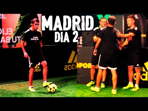 Fútbol Freestyle en Madrid - Koke y Luciano Vietto Atlético Madrid en The Base (Dia 2) | Delantero09