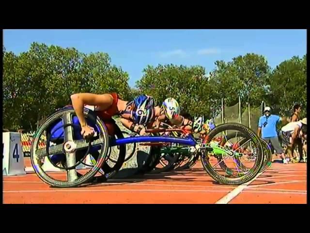 Michelle Stilwell's 2013 IPC 100m Wheelchair Race Gold Medal
