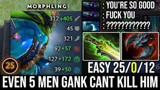 NEW Morphling God!!! Even 5 Men Gank Can't Kill Him WTF Fast Hands 9000 MMR SHOW 25Kills no Death