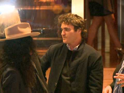 Joaquin Phoenix Spotted Outside Hotel Video
