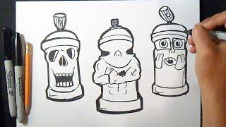 Cómo dibujar Latas de spray Diseños Fáciles 2