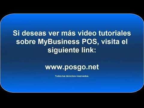 Introduccion a  MyBusiness POS -Manejo del Punto de Venta-