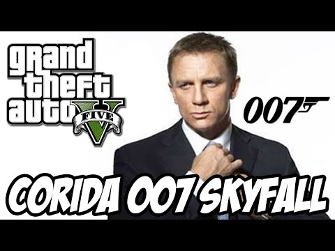 Gta V - Corrida 007 James Bond Skyfall Sensacional video