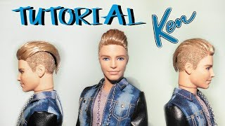 TUTORIAL: Capelli rasati per Ken ! - How to flock your doll