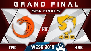 TNC vs 496 Grand Final WESG 2019 SEA Highlights Dota 2