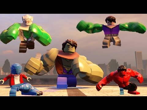 Lego Marvel's Avengers Big Characters Transformation(Stanlee,A-Bomb,Red Hulk,Hulk,Hulk(A:AOU)