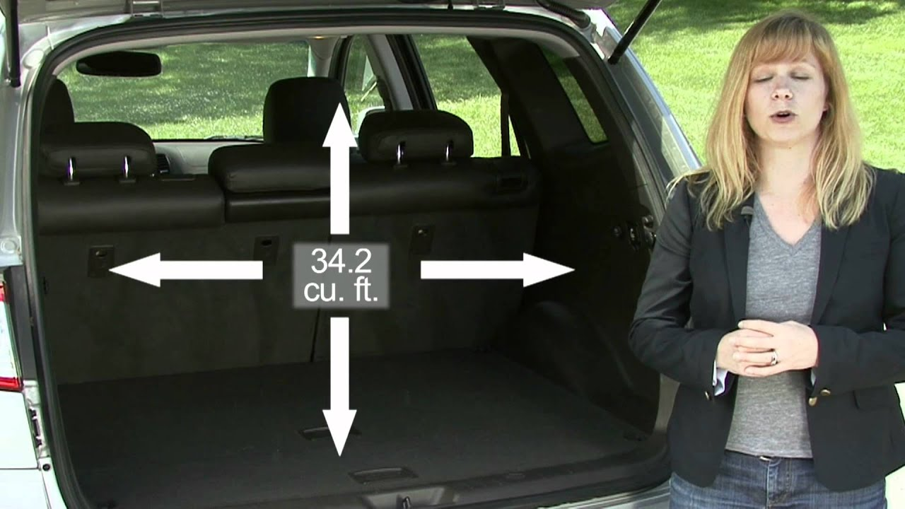 2010 Hyundai Santa Fe Cargo Capabilities Youtube