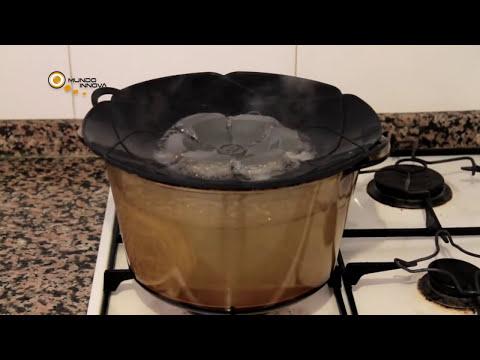 Tapa Flor - Cocine sin salpicaduras ni desbordamientos.