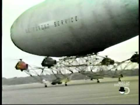 Piasecki PA97 Helistat Accident Crash - helicopter helium blimp hybrid air vehicle heavy lift
