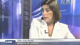 Eda Rivas, Ministra De Justicia