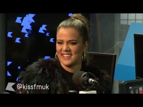 Khloe Kardashian at Kiss FM (UK)