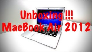 Unboxing de MacBook Air 2012 !!!!