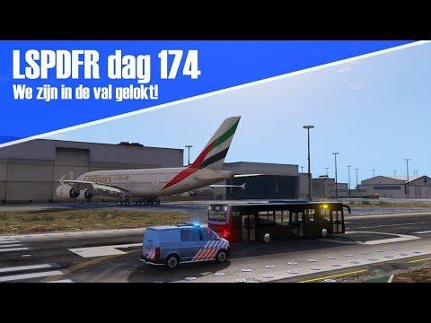 GTA 5 lspdfr dag 174 - In de val gelokt + achtervolging op de landingsbaan! [KMAR]