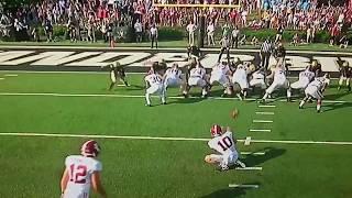 Alabama vs Vanderbilt 2017 football highlights