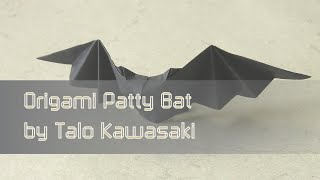 Halloween Origami Instructions: Patty Bat (talo Kawasaki)