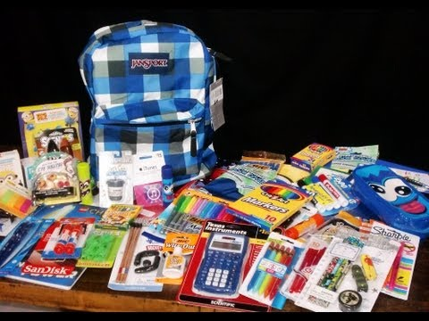 Boys Back To School Supplies Haul + Givewaway!!! -KidToyTesters (Closed)