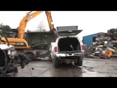 Police crush illegal stretched limo